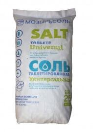 Соль таблетированная ЭКСТРА 25 кг.